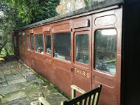 This is what the outside of the passenger carriage looks like now.